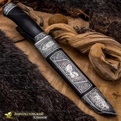 Нож Арсенальный люкс. Рукоять - граб. Сталь ЭИ-107