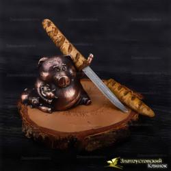 Нож Багет. Рукоять - карельская берёза. Сталь ZDI-1016