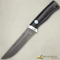 Нож Бекас. Рукоять - граб. Сталь ZDI-1016 с золочением