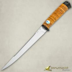 Нож Белуга. Рукоять - береста, текстолит