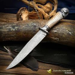 Нож Бессмертный. Рукоять - кость жирафа. Сталь ZLADINOX ZDI-1016