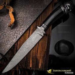 Нож Бессмертный. Рукоять - рог водяного буйвола. Сталь ZLADINOX ZDI-1016