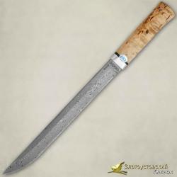 Нож Бурятский большой. Рукоять - карельская берёза. Сталь - ZD-0803