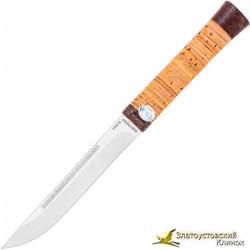 Нож  Бурятский малый. Рукоять береста, текстолит