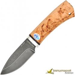 Нож  Добрый. Сталь ZDI-1016. Рукоять карельская берёза