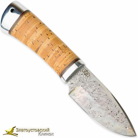 Нож Добрый. Рукоять - береста, алюминий. Сталь ZD-0803