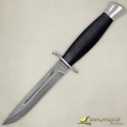 Нож Финка-2. Рукоять - граб. Сталь ZDI-1016 с золочением. Ножны комбинированные