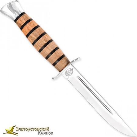 Нож  Финка-2. Наборная рукоять - орех, оргстекло
