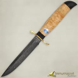Нож Финка-2 Вача. Рукоять - карельская берёза. Сталь ZD-0803