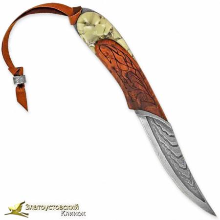 Нож Каллисто. Рукоять - стабилизированный кап. Сталь ZDI-1016