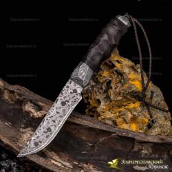 Нож Каменный век. Рукоять - пальма. Сталь мозаичный дамаск