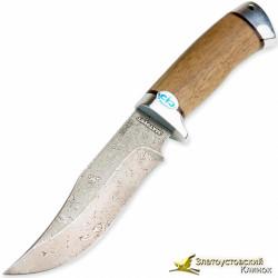Нож Клычок-1. Рукоять - орех, алюминий. Сталь ZDI-1016