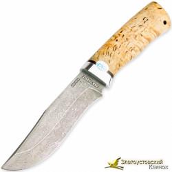 Нож Клычок-3. Рукоять - карельская берёза. Сталь ZDI-1016