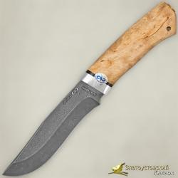 Нож Клычок-3. Рукоять - карельская берёза. Сталь ZDI-1016 с золочением