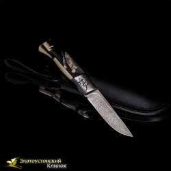 Нож Ледниковый период. Рукоять - кость мамонта. Сталь - ZDI-1016