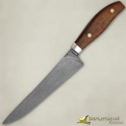 Нож Мясницкий ЦМ. Рукоять - орех. Сталь ZDI-1016