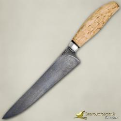 Нож Мясницкий. Рукоять - карельская берёза. Сталь ZDI-1016