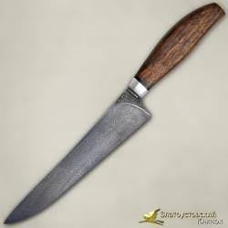 Нож Мясницкий. Рукоять - орех. Сталь ZDI-1016