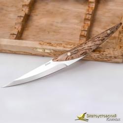 Набор стейковых ножей ЦМ Anjou. Рукоять - карельская берёза. Сталь Elmax