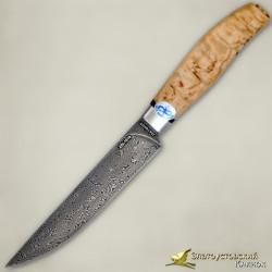 Нож Овощной. Рукоять - карельская берёза. Сталь ZDI-1016