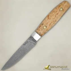 Нож Овощной малый ЦМ. Рукоять - карельская берёза. Сталь ZDI-1016