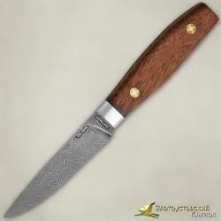 Нож Овощной малый ЦМ. Рукоять - орех. Сталь ZDI-1016