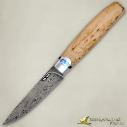 Нож Овощной малый. Рукоять - карельская берёза. Сталь ZDI-1016