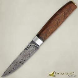 Нож Овощной малый. Рукоять - орех. Сталь ZDI-1016