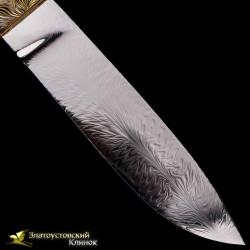 Нож Полёт колибри. Рукоять - тополь. Сталь - ZDI-1016