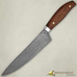 Нож Поварской ЦМ. Рукоять - орех. Сталь ZDI-1016