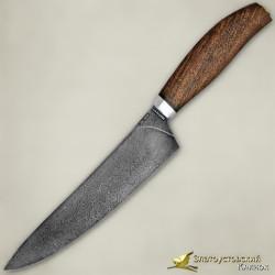 Нож Поварской. Рукоять - орех. Сталь ZDI-1016