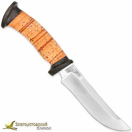 Нож Росомаха. Рукоять - береста, текстолит