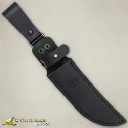 Нож украшенный Росомаха. Рукоять - граб, сталь ЭИ-107 с золочением