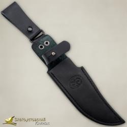 Нож Росомаха. Рукоять - граб, сталь ЭИ-107 с золочением