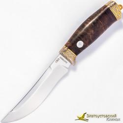 Нож Росомаха. Рукоять - ореховый кап, сталь ЭИ-107
