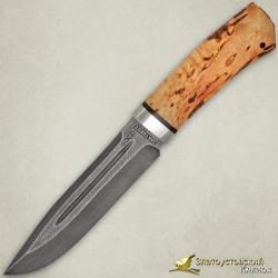Нож Селигер. Рукоять - карельская берёза. Сталь ZDI-1016