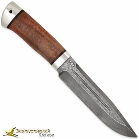 Нож Селигер. Рукоять - орех, алюминий. Сталь - ZDI-1016