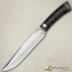Нож Шашлычный большой. Рукоять - кожа, текстолит