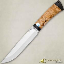Нож Шашлычный средний. Рукоять - карельская берёза, текстолит