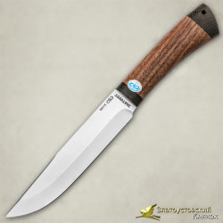 Нож Шашлычный средний. Рукоять - орех, текстолит