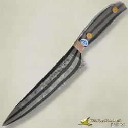 Нож Шеф. Рукоять - оргстекло, мокуме. Сталь ZD-0803