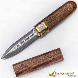 Нож Сигара. Рукоять - орех. Сталь - ZDI-1016