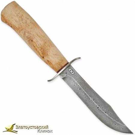 Нож Скаут. Рукоять - карельская берёза. Сталь ZDI-1016