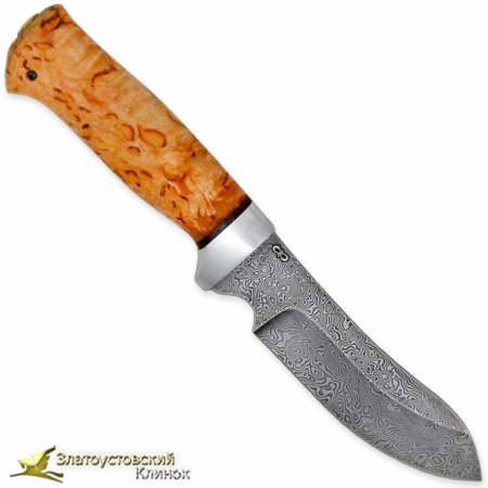 Нож Скинер-2. Рукоять - карельская берёза. Сталь ZDI-1016