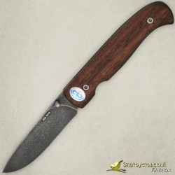 Нож складной. Рукоять - орех. Сталь ZDI-1016