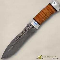 Нож Скорпион. Рукоять - береста, алюминий. Сталь ZD-0803