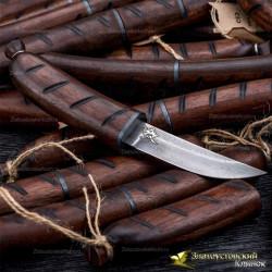 Нож Сосиска. Рукоять - орех. Сталь ZDI-1016