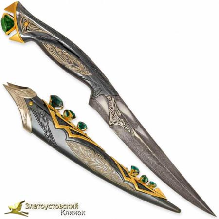 Нож Спаун. Сталь ZDI-1016 с золочением клинка