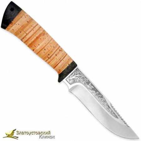 Нож Стрелец. Рукоять - береста, текстолит