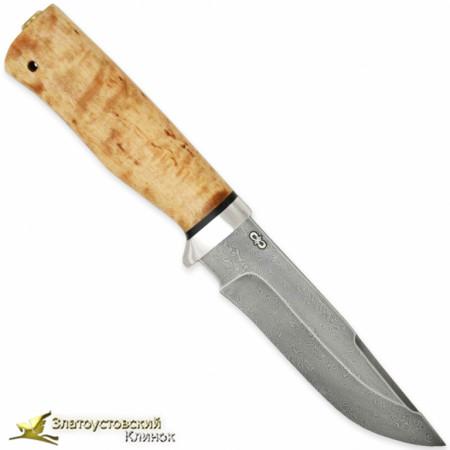 Нож Стрелец. Рукоять - карельская берёза, алюминий. Сталь - ZD-1016